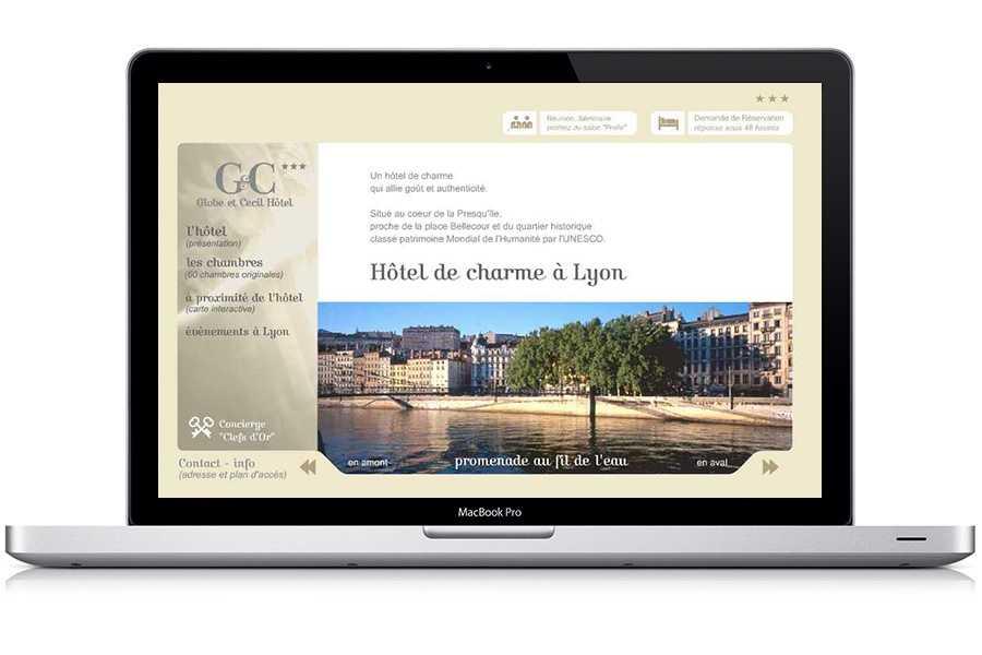 Site web Hôtel Globe & Cécil Hotel
