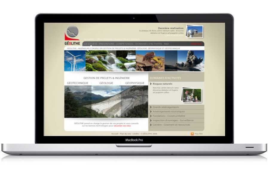 Site Web Géolithe