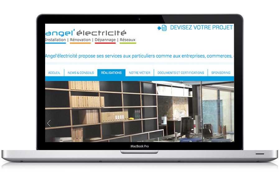 Site entreprise wordpress | Angel'électricité