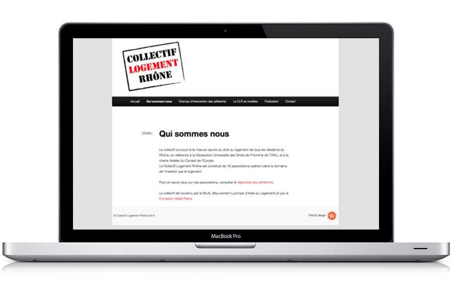 Site WordPress pour association Collectif Logement Rhône