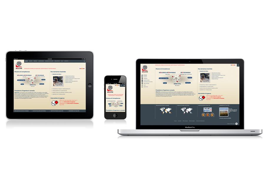 site responsive géolithe