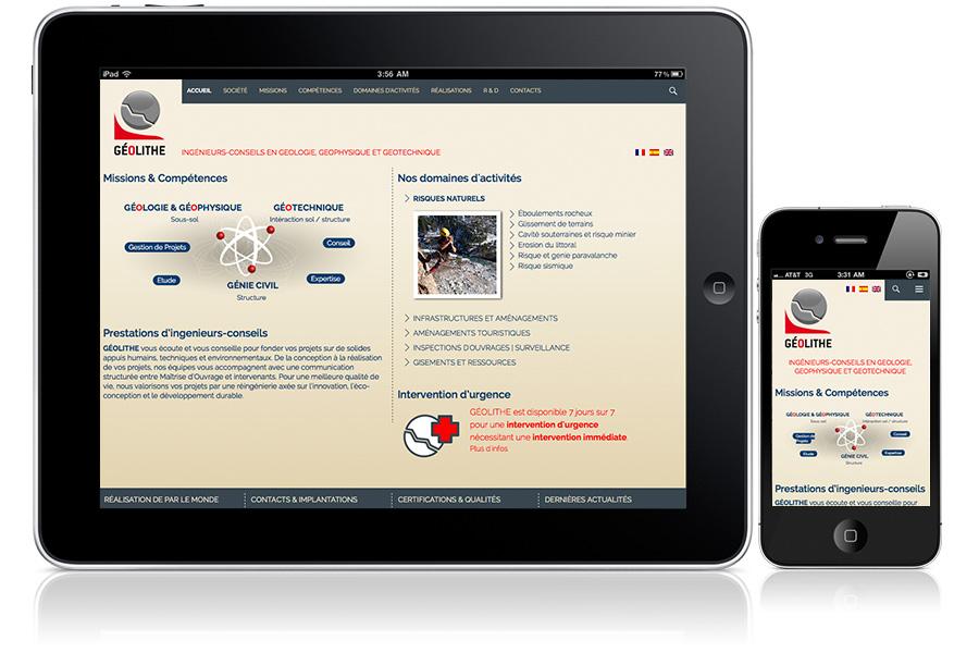 site responsive tablette et smartphone