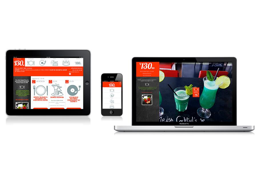 Site web responsive | Restaurant Le130RB