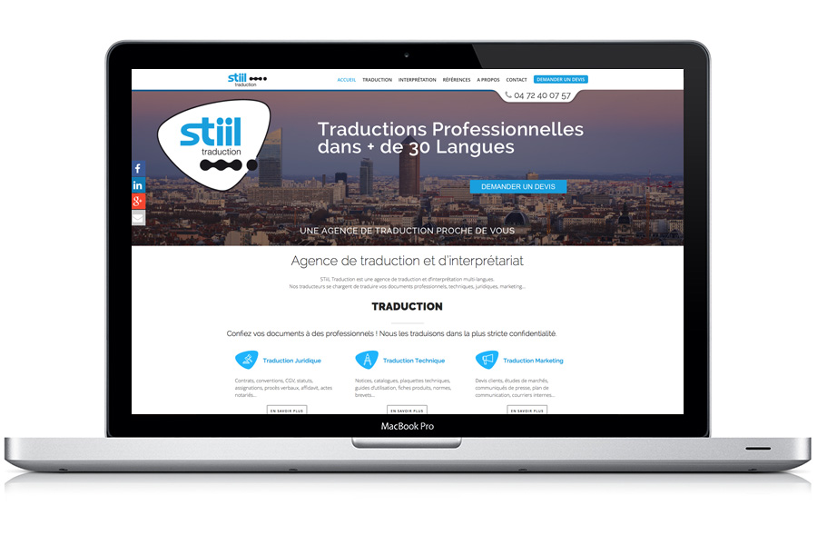 Webmastering sur le Site Web Stiil Traduction
