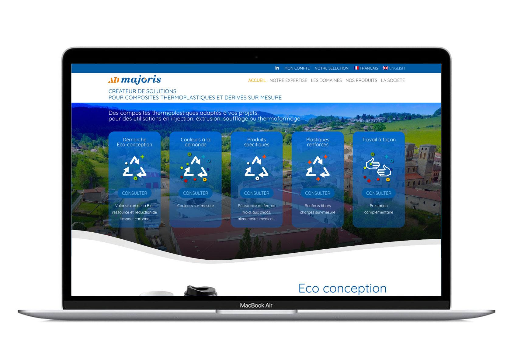 Catalogue produit en ligne AD majoris